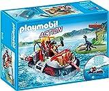 PLAYMOBIL- Aerodeslizador con Motor Submarino Juguete, Multicolor (geobra Brandstätter 9435)