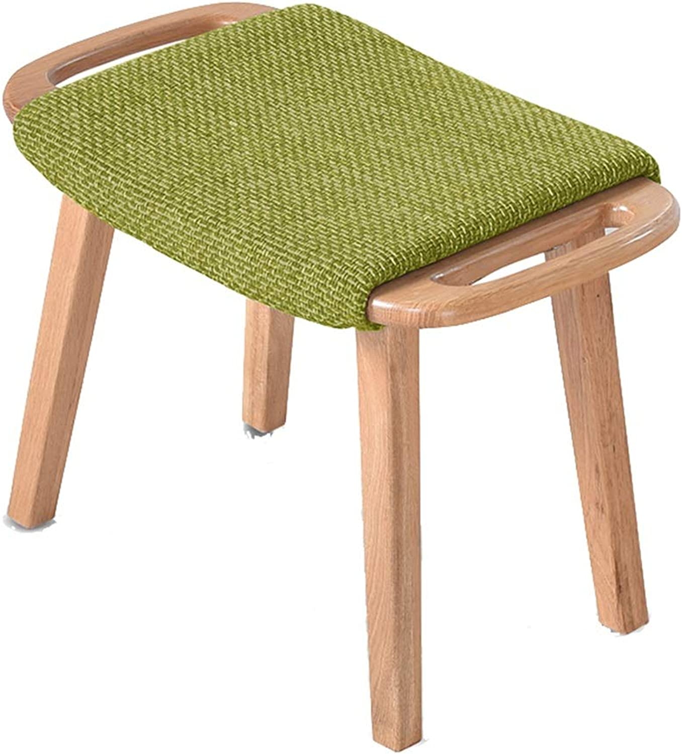 AIDELAI Bar Stool Chair- Stool Solid Wood Home Dressing Up Stool Sofa Stool Pedal Short shoes Bench Bedroom Bench Saddle Seat (color   B)