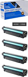Inksters Compatible Black Toner Cartridge Replacement for HP 504X (CE250X) High Capacity - Compatible with Color Laserjet CP3525 CP3525N CP3525DN CP3525X CM3530 CM3530FS MFP (4 Pack)