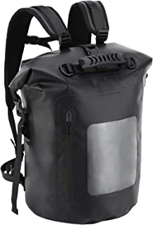 MIER Large Waterproof Backpack Roll Top Dry Bag for Kayaking, Boating, Rafting, Surfing, Swimming, Easy Access Front Zippered Pocket, Padded Back Support and Cushioned Adjustable Straps