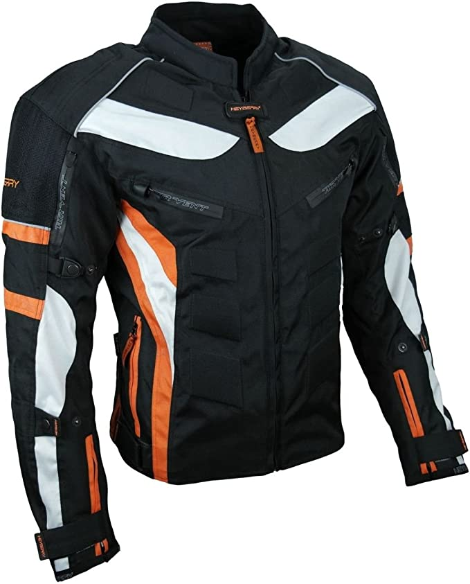 M 3XL Heryberry kurze Textil Motorrad Jacke Motorradjacke Schwarz Gr