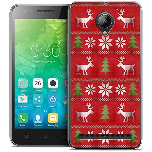 Caseink - Hülle Schutzhülle Case Für Lenovo C2 K10A40 (5) [Crystal Gel Motif HD Kollektion Weihnachten 2017 Design Couture Rouge - Flexibel - Ultra dünn - Gedruckt in Frankreich]
