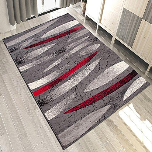 Carpeto Designer Teppich Modern Gestreift Muster Meliert In Grau - ÖKO TEX (180 x 250 cm)