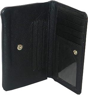 Laveri Black Leather For Women - Bifold Wallets