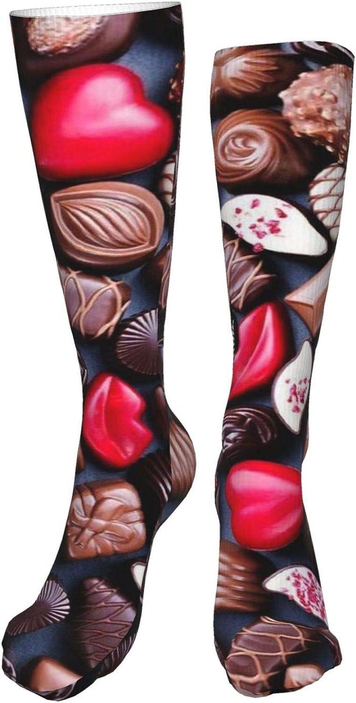 Chocolates Women Premium High Socks, Stocking High Leg Warmer Sockings Crew Sock For Daily And Work