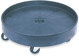 Rubbermaid Commercial Universal Drum Dolly for 55G Round Container, Black, (FG265000BLA)
