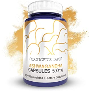 Ashwagandha Capsules | 500mg | 90 Count | 4-5% Withanolides