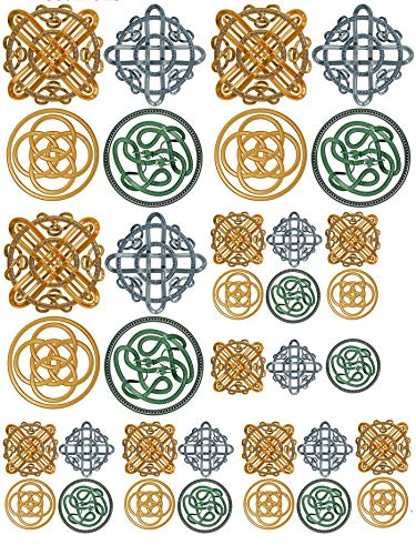 Celtic Knots - 66714 - Ceramic Decal - Enamel Decal - Glass Decal - Waterslide Decal - 3 Different Size Sheet (Images) to Choose from. Choose Either Ceramic (Enamel) or Glass Fusing Decals