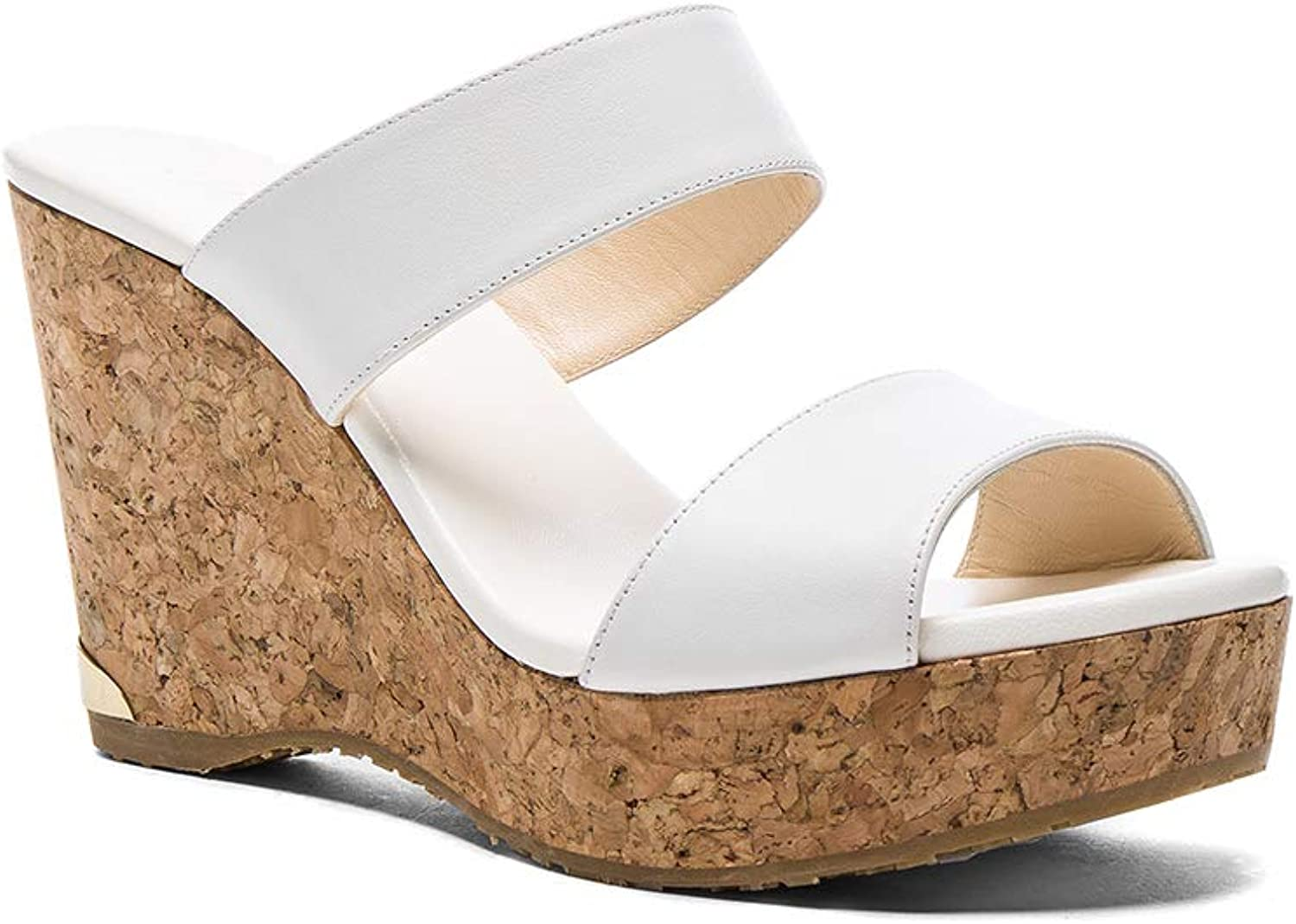 Jimmy Choo Parker Wedge, White, Size 9.5