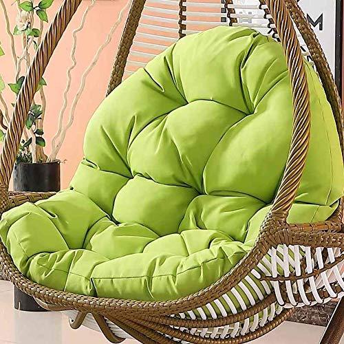 Giow Hängestuhl-Kissen aus Rattan, wasserdicht, für Schaukeln, Papasan, bunt, dickes Nest, abnehmbar, ohne Stuhl, cremeweiß grün
