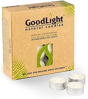 GoodLight Paraffin-Free Tea Lights Pack of (48)