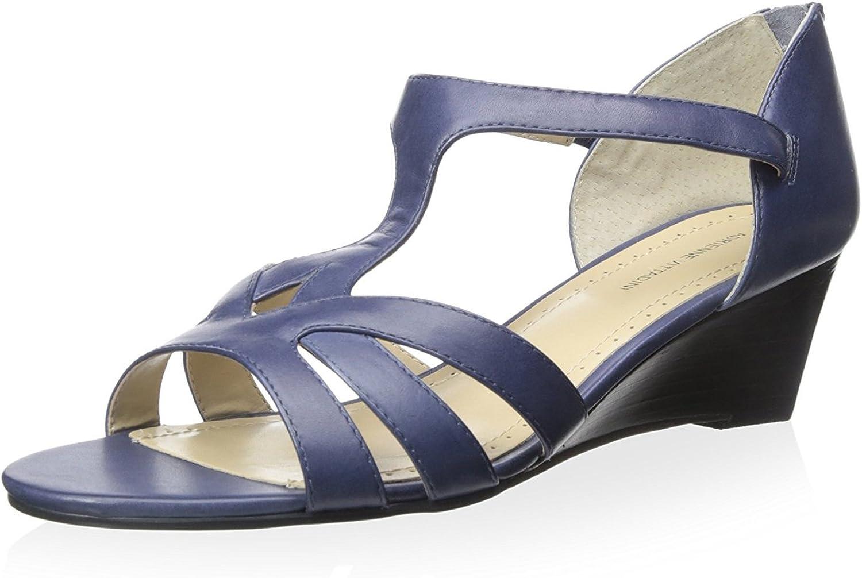 Adrienne Vittadini Footwear Women's Corette Wedge Sandal Silver