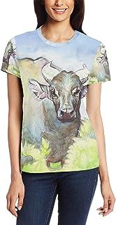 T Shirt voor Vrouwen Meisjes Dier Aangepaste Korte mouw