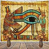 OTIAN Tapiz Sofa Patrn Estilo Fresco Egipto Pirmide De Tapiz Decorativo El Ojo De Horus Decoracin del Hogar Decoraciones para El Hogar Colgante De Pared para Sala De Estar Dormitorio 150X130CM