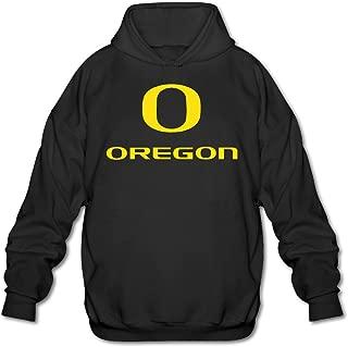 AuSin Men's University of Oregon Hooded Sweatshirt Black