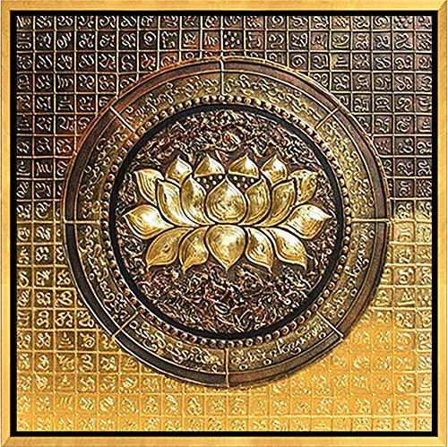QWKZH DIY olieverfschilderij Thaise olieverfschilderij Zuidoost-Azië woonkamer met de hand geschilderde veranda decoratief schilderij hotel abstracte open haard scherm schilderij muurschildering aangepast,40 * 50CM