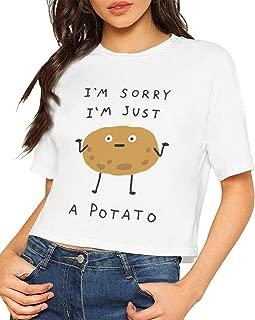 I'm A Potato Women Short Sleeve Crop Top Tee Shirt