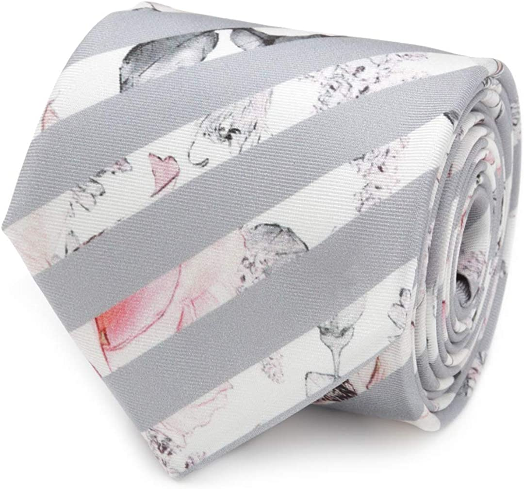 Now free shipping Painted Floral Gray Stripe Tie New arrival Silk Men's