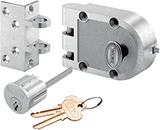 Prime-Line Products SE 15318 Bronze Deadlock with Single Cylinder and Angle Strike, Chrome Finish