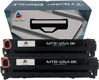 Triple Best Compatible Toner Cartridge Replacement for HP CB540A 125A Laserjet CP1215 CP1515n CP1518ni CM1312 MFP CM1312nfi MFP CP1217 (Black) (2 Pack)
