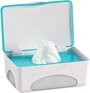 hiccapop Diaper Wipes Dispenser Baby Wipes Case | Baby Wipe Holder Keeps Wipes Fresh | Non-Slip, Easy Open & Close Wipe Co...