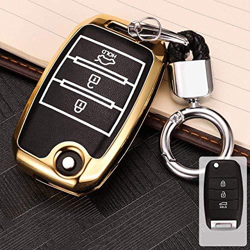 HUAQIANYU Accesorios para automóviles Carcasas para llaves, Carcasa para llaves de auto Llavero, Aleación de zinc Luminoso Carcasa para llaves para Chevrolet Para Cruze Spark Equinox Camaro Volt Bolt