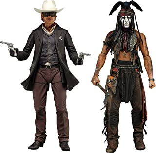 NECA The Lone Ranger - 734; Deluxe Scale Action Figure (Set of 2)
