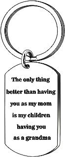 Keychain for Mom Mother Grandma Grandmother Christmas Thanksgiving Day Birthday Gifts