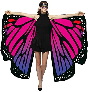 Sturrly🌻Butterfly Wings for Women Premium Butterfly Shawls Fairy Ladies Cape Nymph Pixie Costume Accessory