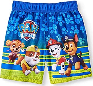 Toddler Boys Paw Patrol Paw Prints Blue Swim Short Trunk - 4T [並行輸入品]