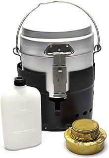 Mil-Tec クッカー メスキット スウェーデン軍タイプ 飯盒 五徳兼風防 バーナー 燃料ボトル 4点セット