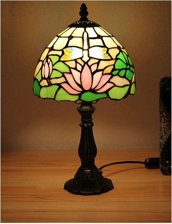 Xiuxiu Europäische Kreative Retro Glasmalerei Tischlampe Schlafzimmer Nachttischlampe Esszimmer Wohnzimmer Bar Mode Dekorative Tischlampe (Farbe   Zinc alloy) B07JFCZ7D9 | Deutschland