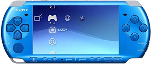 Sony PSP Slim and Lite 3000 Series Handheld Gaming Console with 2 Batteries (Blue)(Renewed)