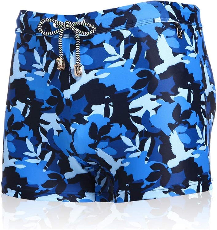 HIAO Schwimmen Hosen Mnner Feste Polyester Druck Mehrere Gren Spa Schwimmbad Strand Marineblau Blau Splice Muster DREI Farbe Optional (Farbe   3, gre   XL)