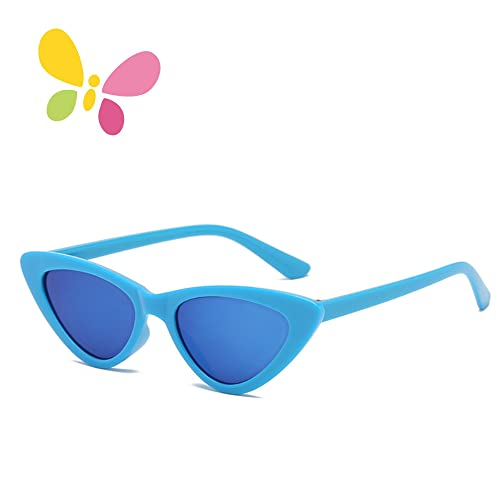 7f197ee892 FOURCHEN Retro Vintage Narrow Cat Eye Sunglasses for kids Clout Goggles  Plastic Frame
