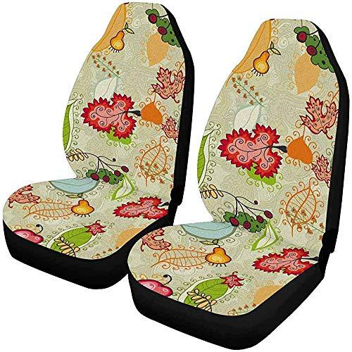 2 stuks voor de auto stoelhoezen voor autostoelbeschermers geschikt voor de meeste personenauto's, vrachtwagens, SUV's, auto's en dergelijke.