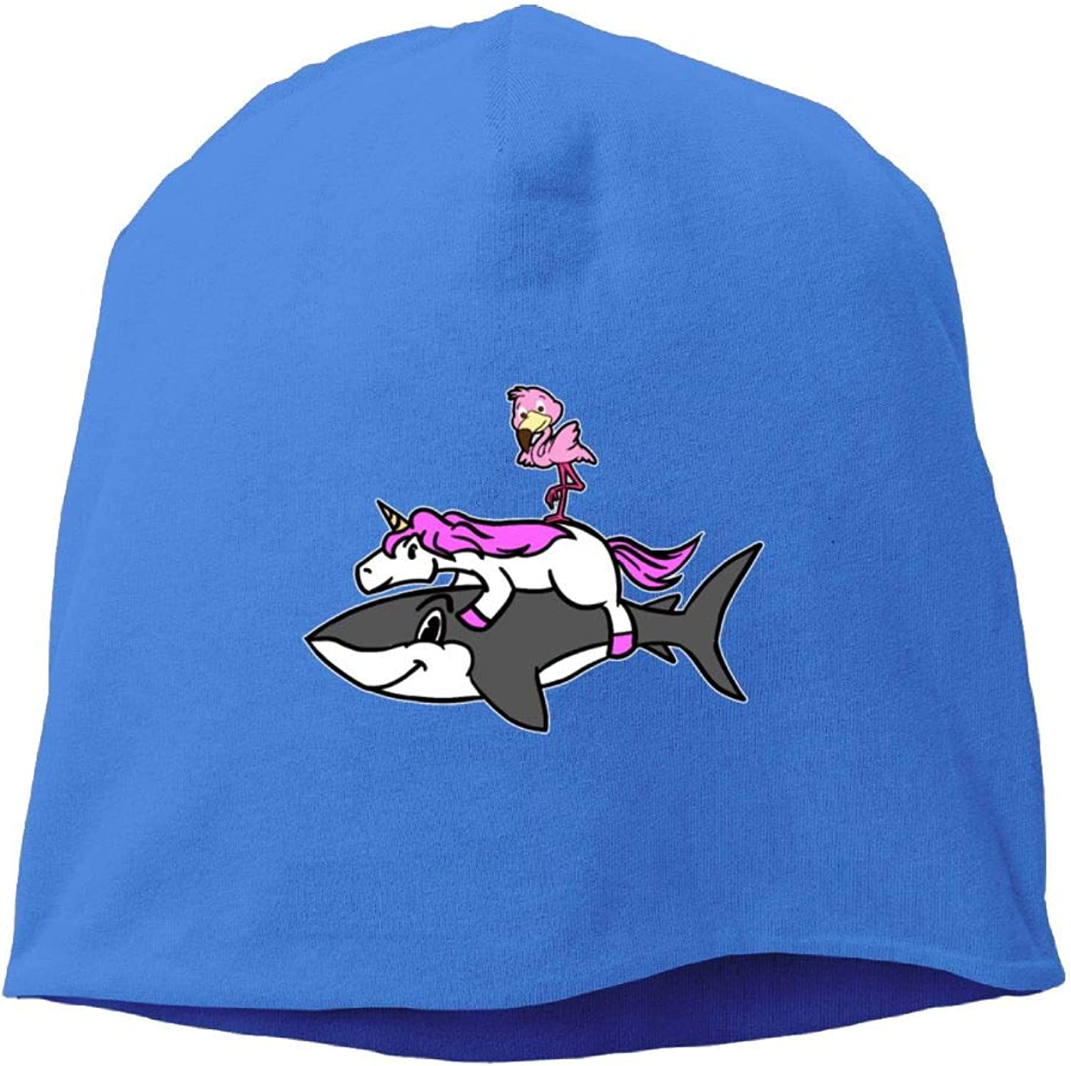 Jusxout Flamingo Riding Unicorn Shark Knit Cap Beanie Hats Women's