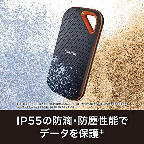 SanDiskポータブルSSD1TB最大1050MB/秒【PS4メーカー動作確認済】USB3.1Gen2防滴耐振耐衝撃SDSSDE80-1T00-J255年保証