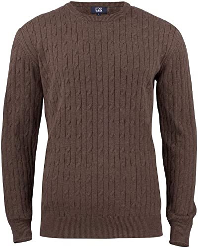 Cutter & Buck Blakely Knitted chandail Hommes, Taille XL, Couleur marron Mel