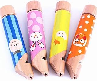 Ocobudbxw Cute Cartoon Wood Slide Whistle Toy Juguete para niños Instrumento Musical Bebé Niño Niños Gir Toy