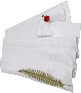 Divine Cotton Solid Pattern,White - Towels Set