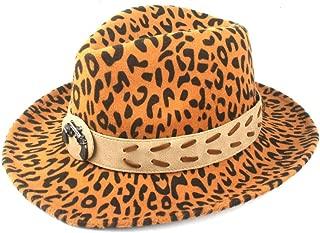 Fedora Cap Ladies' Autumn Winter Fedora Hat Men's Hat Classic Hat Fedora Hat Wool Polyester Quality Hat with Belt Felt hat (Color : Yellow, Size : 56-58cm)