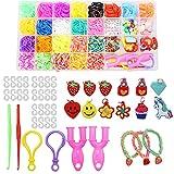 Aohcae Pulseras Gomas Elasticas,1500 pcs DIY Colores Gomas Loom Bandas Conjunto, Loom Bands Kit para Niños Tejer Artesanías de Bricolaje, Pulseras(23 Colores)