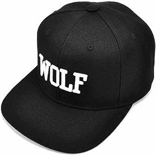 AStorePlus Baseball Hat Hip-hop Wolf Adjustable Embroidery Snapback Cap, Black
