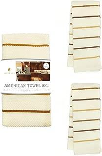 MINERVA Kitchen Towels Dish Cloths Stripe 2 pcs Sets