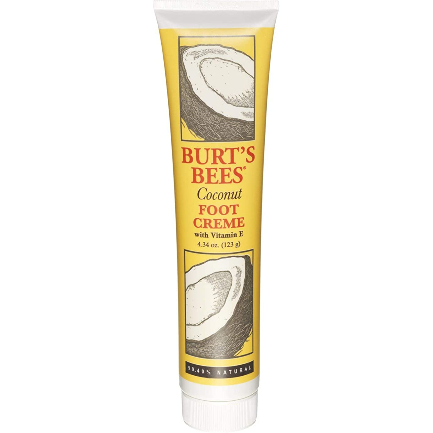 イディオムカエルドラムBurt's Bees, Coconut Foot Creme 4oz by Burt's Bees