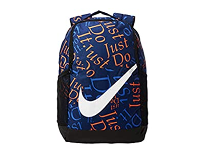 Nike Kids Brasilia Just Do It Backpack (Little Kids/Big Kids) (Blue Void/Sapphire/White) Backpack Bags