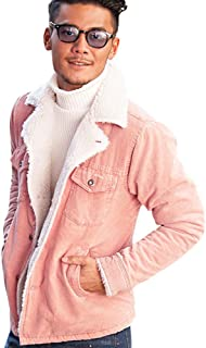 (キャバリア)CavariA メンズ ランチコート ジャケット ブルゾン ボア コーデュロイ 防寒 暖かい 上着