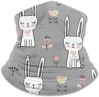 Lindo conejo con protección UV para el cuello y el sol para niños y niñas, resistente al viento