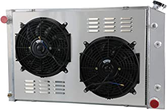 CoolingCare GM Multiple Models Aluminum Radiator w/Shroud Fans, 3 Row Core Cooler for 1973-1987 Chevy GMC C&K Series 10 20...